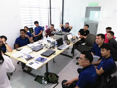 Training and information sharing session with our Thailand & India team in Nixma Malaysia.