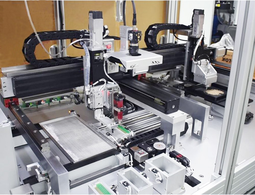Discrete component pick & place and epoxy dispensing
