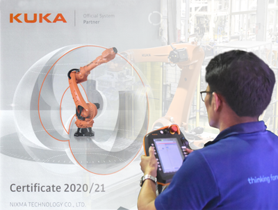 We are the official system partner of KUKA Thailand